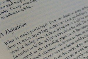 Definition of social psychology from textbook