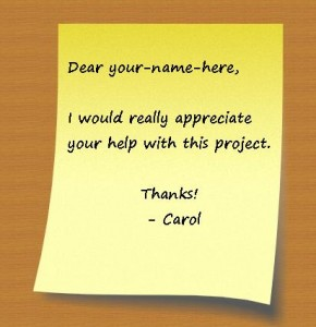 Personalized Post-It note